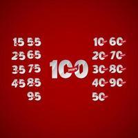 As celebrações do aniversário de 100 anos definem um número de ilustração de design de modelo vetorial elegante