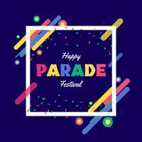 Ilustração em vetor festival desfile