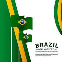 feliz celebração do dia da independência do brasil ilustração vetorial design vetor