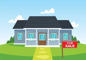Casa grande à venda vetor
