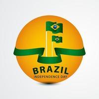 feliz celebração do dia da independência do brasil ilustração vetorial design
