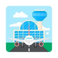 Aeroporto de estilo simples
