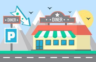 Restaurante Flat vetor