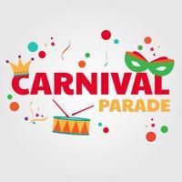 Desfile de carnaval vetor