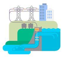 Usina hidrelétrica vetor