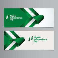 feliz nigéria celebração do dia da independência ilustração vetorial de design de modelo