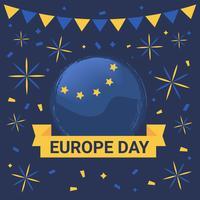 Feliz Dia da Europa Vector