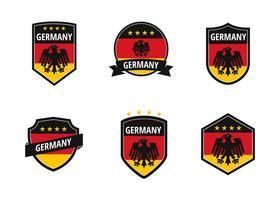Vetor de remendo de futebol de Alemanha