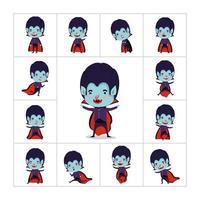 conjunto de menino com fantasia de vampiro