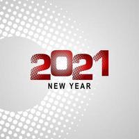 feliz ano novo 2021 celebração ilustração vetorial modelo design