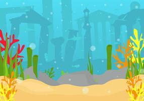 Cidade da ilustração vetorial de Atlantis vetor