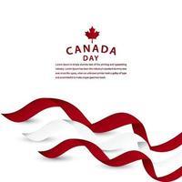 ilustração de design de modelo vetorial feliz celebração do dia do Canadá