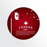 ilustração de design de modelo vetorial feliz celebração do dia do Canadá vetor