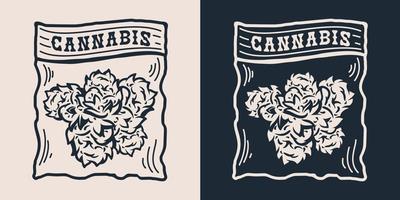 cannabis em um saco plástico