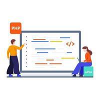 conceito de web e programação vetor