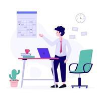 conceito de gerenciamento e agendamento de tarefas vetor