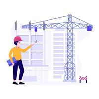 conceito de projetos de engenharia civil vetor