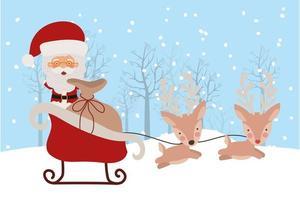 cartão de feliz natal com o papai noel vetor