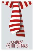cartão de feliz natal com lenço acessório vetor