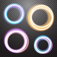 Elemento de design de efeito de luz de néon brilhante