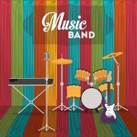 conjunto de instrumentos de banda de música vetor