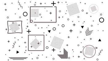 cartão de memphis com formas geométricas. design de moda de luxo vetor
