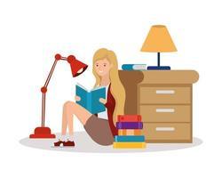 livro de leitura jovem vetor