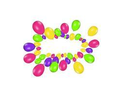 balões de ar isolados. composição de cores de balões realistas de vetor isolados no fundo branco. balões isolados. ilustração vetorial festiva