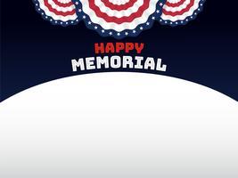 Fundo de estilo americano para o dia do memorial vetor