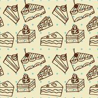 Seamlees padrão com bolos vetor