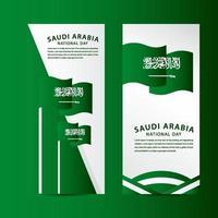 ilustração de design de modelo vetorial feliz arábia saudita celebração do dia nacional vetor