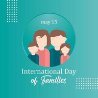 feliz dia internacional das famílias ilustração logo vector template design