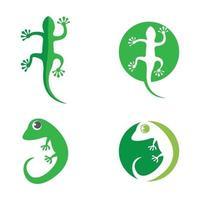 ilustração das imagens do logotipo camaleão vetor