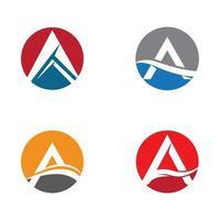 conjunto de logotipos vetor
