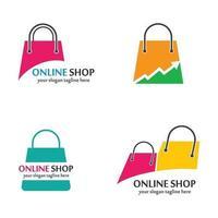 imagens de logotipo de loja online vetor