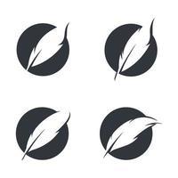 imagens do logotipo da pena vetor