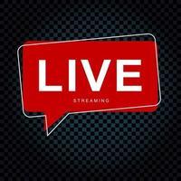 conversa de bolha de streaming ao vivo. vetor