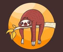 Ilustração de preguiça vetor