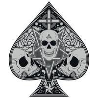 poker ace skulls vetor