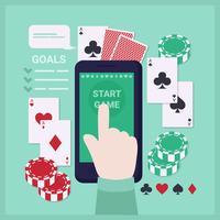 Vector Jogando Cartas App