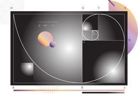 Vetor de proporção áurea gradiente abstrata