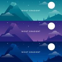 Vetor de gradientes de noite