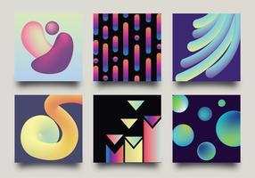 Pacote de vetores de estilos de gradiente
