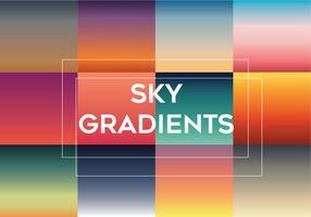 Pacote de vetores de gradientes de céu