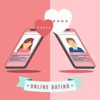 Namoro virtual vetor