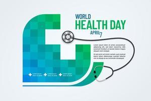 desenho de banner do dia mundial da saúde vetor