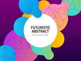 Fundo abstrato futurista