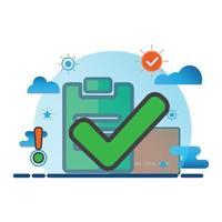 ilustração da marca de seleção. ícone de vetor plano