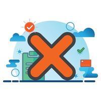 exclua a ilustração. ícone de vetor plano