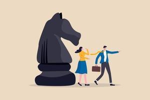 estratégia de negócios, liderança e habilidade para resolver o conceito de problema de negócios